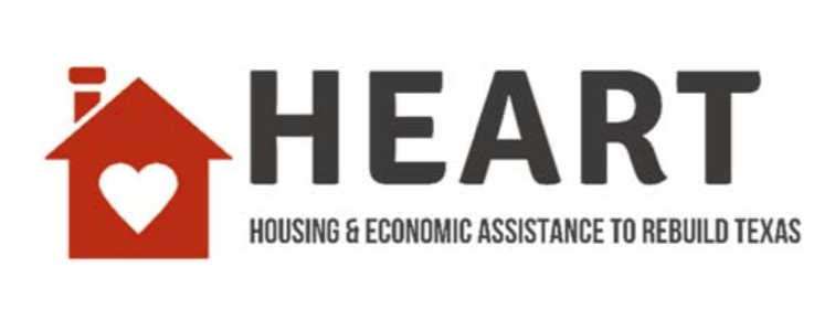HEART- housing and economic assistance to rebuild Texas logo
